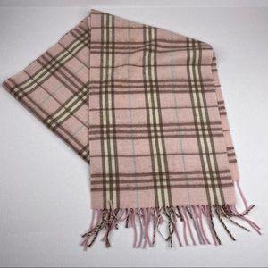 Burberry Pink Nova Check Plaid Cashmere Scarf